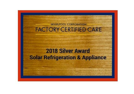 Whirlpool Excellence In Service Award Solar