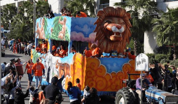 first mardi gras parade