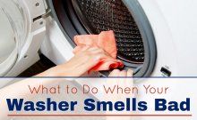 front load bosch washer smells